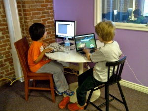 Pim and Ciaran At The MineCraft Lab